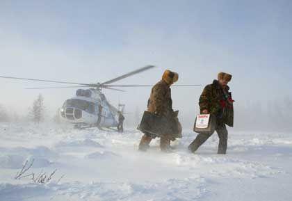 Präsent bis in den hintersten Winkel des Landes: Beamte in Sibirien