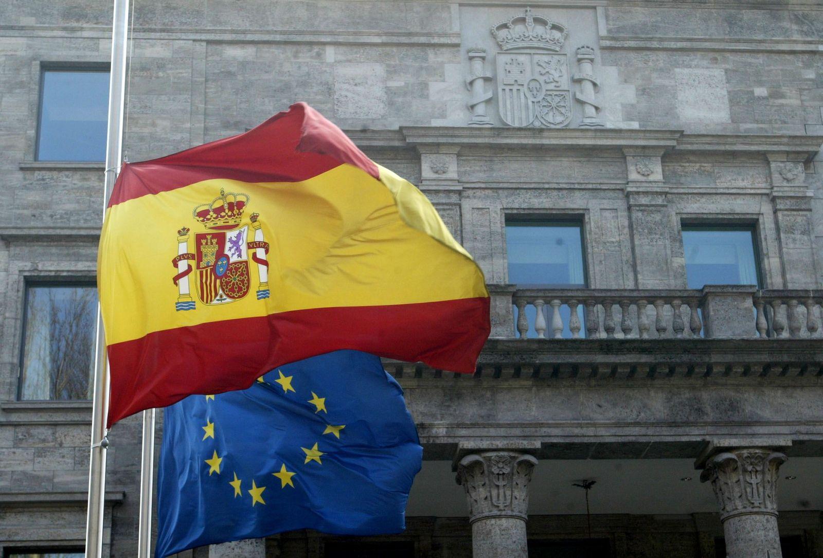 NICHT VERWENDEN flagge spanien und eu