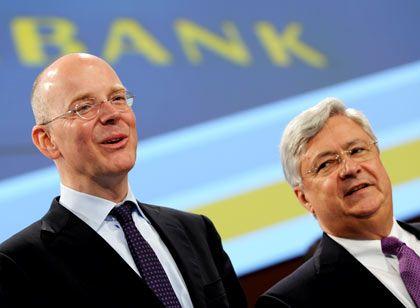 """Setzen auf die interne """"Abbaubank"""": Commerzbank-Chef Martin Blessing (l.), Aufsichtsratschef Klaus-Peter Müller"""