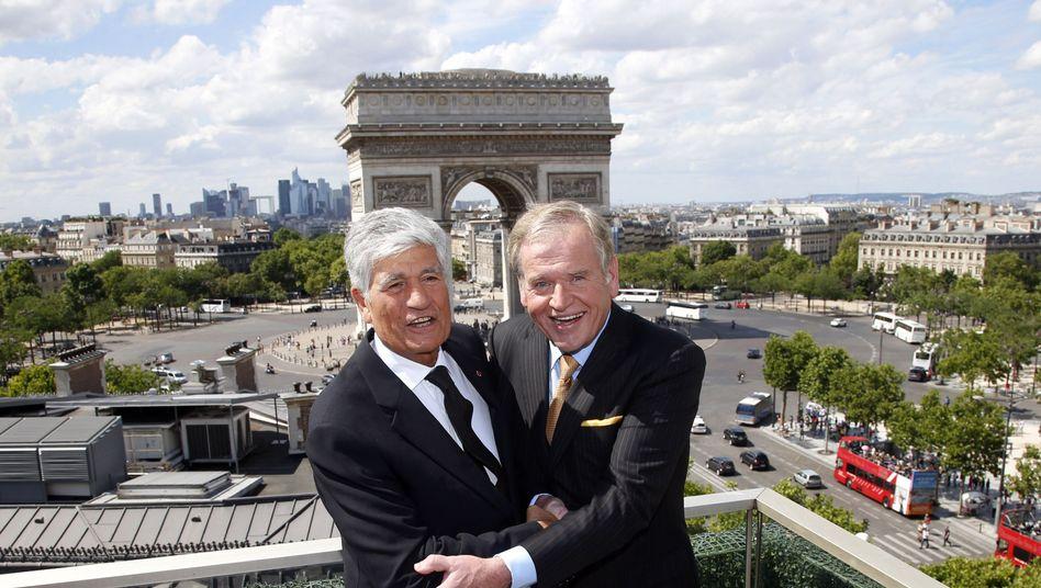 Wollen künftig gemeinsam werben: Publicis-Chef Maurice Levy und Omnicon-Vorstand John Wren