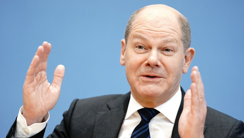 """""""Wir zeigen, dass wir stärker sind, als das Problem"""": Bundesfinanzminister Olaf Scholz"""