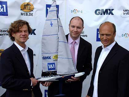 Drei für Deutschland: Uwe Sasse, United-Internet-Chef Ralph Dommermuth und Skipper Jesper Banks