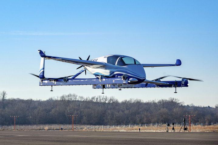 Diesen Prototypen ließ Boeing bereits im Januar in die Luft steigen