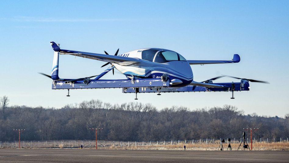 """Das ist Boeings Prototyp eines """"Autonomous Passenger Air Vehicles"""" - also eines Roboter-Flugtaxis"""
