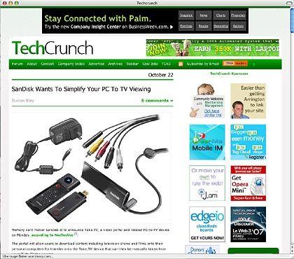 """US-Blog """"TechCrunch"""": Aktuelle Meldungen aus der Welt der Internet-Start-ups"""