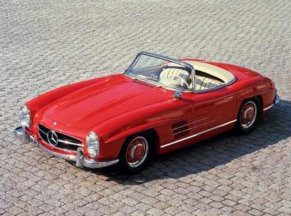 In aller Offenheit: Der Mercedes-Benz 300 SL Roadster wurde ab 1957 gebaut