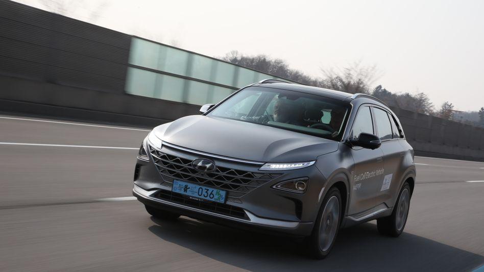 Wasserstoffauto Hyundai Nexo: In die Brennstoffzellen-Technologie will Hyundai bis 2030 Milliarden investieren