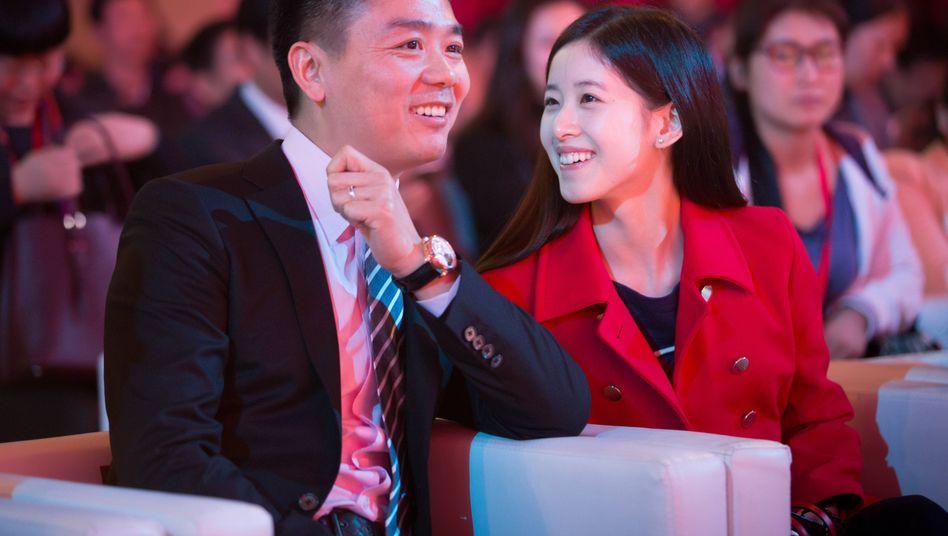 Milliardärs-Paar: JD.com-Gründer Richard Liu und seine Frau Zhang Zetian. Beide haben noch Großes vor