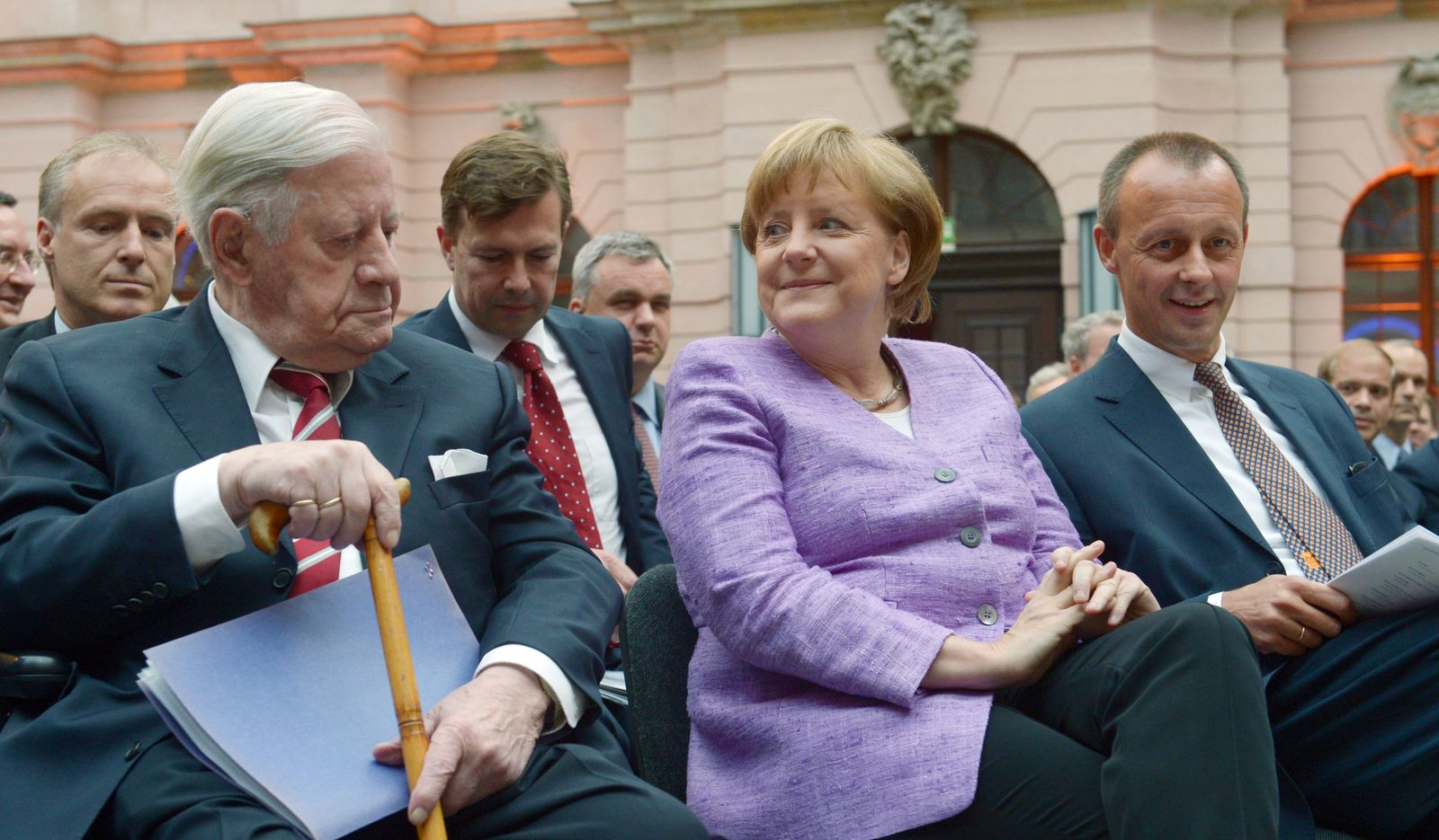 Helmut Schmidt Angela Merkel Friedrich Merz