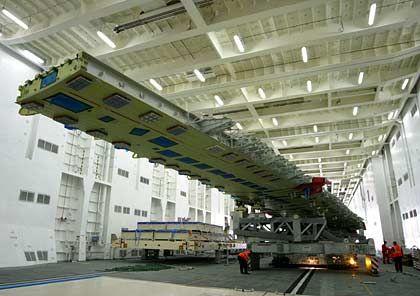 Bemitleidenswertes Brett: A380-Flügel für Belastungstests