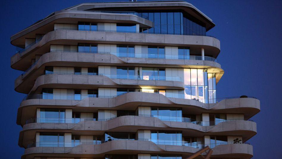 Teil der städtischen Preisblase: Marco-Polo-Tower in der Hamburger Hafencity