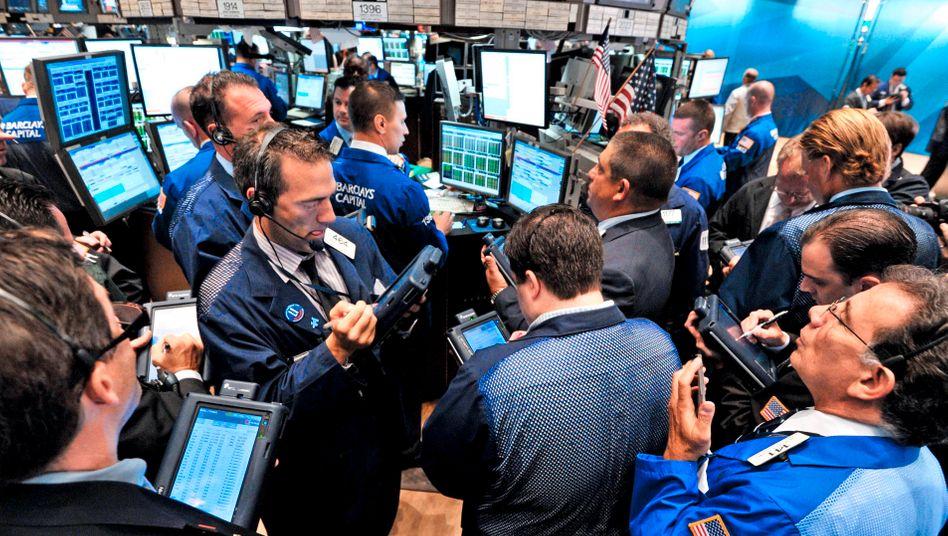 Aktienhändler in New York: Die Nachfrage nach Vroom-Aktien war groß.