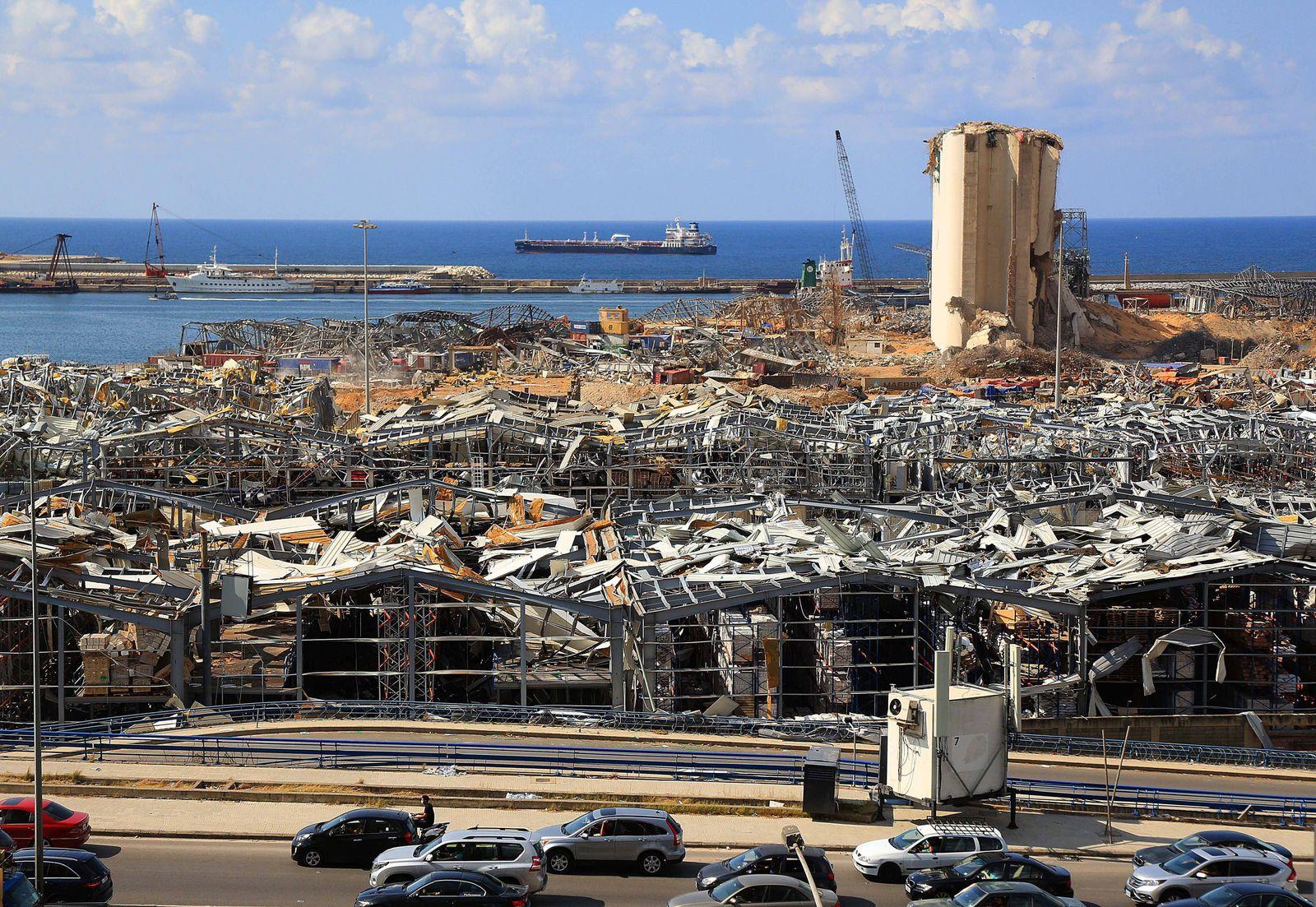 Libanon, Zerstörungen Sieben Tage nach der Explosion in Beirut May 29, 2012, Beirut, Beirut, Lebanon: A picture taken o