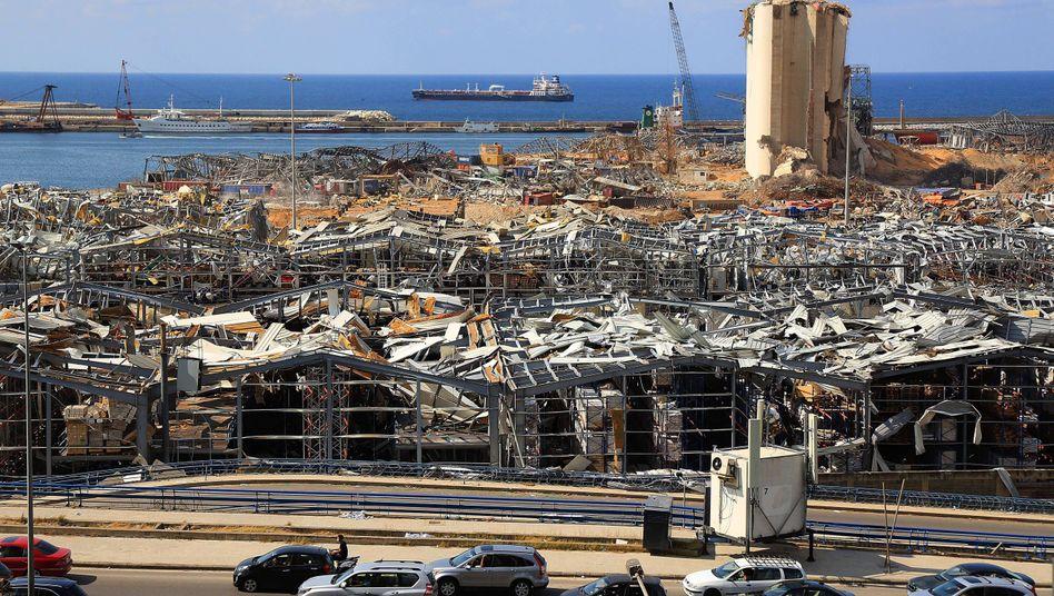 """Das """"Ground Zero"""" von Beirut: Die Explosion am Hafen hat 165 Menschenleben gefordert. Große Teile der Stadt sehen aus wie nach einem schweren Bombenangriff"""