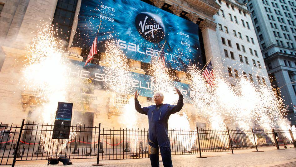 Ganz bodenständig: Virgin-Galactic-Gründer Richard Branson beim Börsengang am 28. Oktober 2019