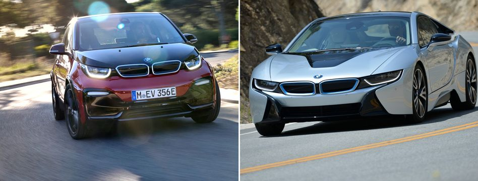 BMW i3 (li.), i8