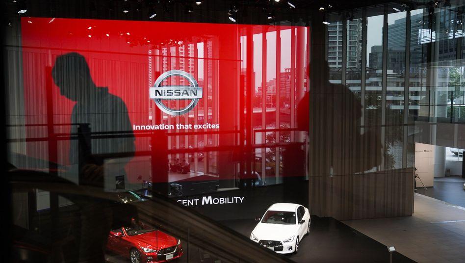 Nissan-Autos in der Zentrale in Yokohama: Ab Januar wirkt hier ein neuer CEO mit Versöhnungs-Auftrag