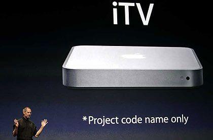 Apples Fernsehprojekt: Konzernchef Steve Jobs bei der Ankündigung des iTV, der später in Apple TV umbenannt wurde
