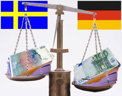 1. Die Personalkosten: Nur 56 Prozent der Löhne und Gehälter, die Opel in Rüsselsheim und Bochum zahlt, werden in Trollhättan ausgeschüttet. Die Lohnkosten machen bei Autoherstellern zwar nur rund ein Fünftel der Gesamtkosten aus - am Ende sind es aber etwa 6 Prozent, die GM pro Auto durch eine Produktion hoch im Norden spart. Fazit: 0 : 1 gegen Deutschland