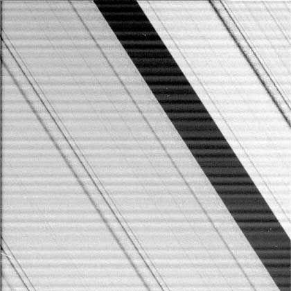 Lücke zwischen den Ringen: Rohdaten mit Streifen