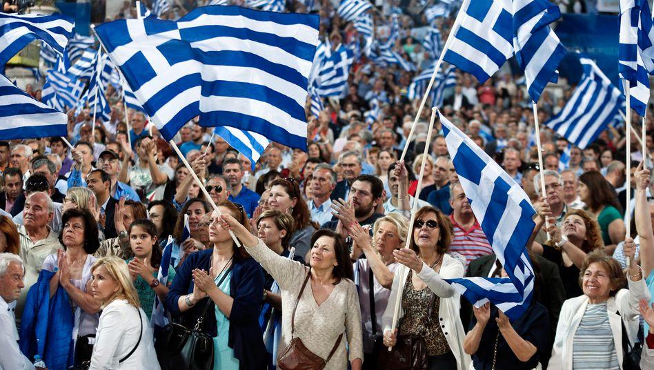 Verbleibt Griechenland im Euro-Raum, wird es dauerhaft am Tropf der anderen Staaten hängen