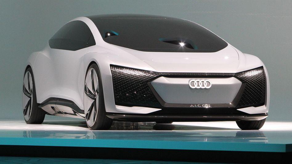 Audi auf der IAA 2017, hier mit der Studie Audi Aicon.