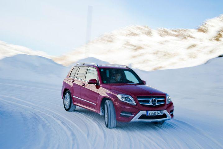 Mercedes GLK: Zeigt auch bei winterlichen Verhältnissen klare Kante - ist aber nichts für Leute mit schmalem Geldbeutel