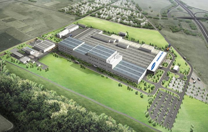 Batterie-Werk von Samsung SDI in Ungarn