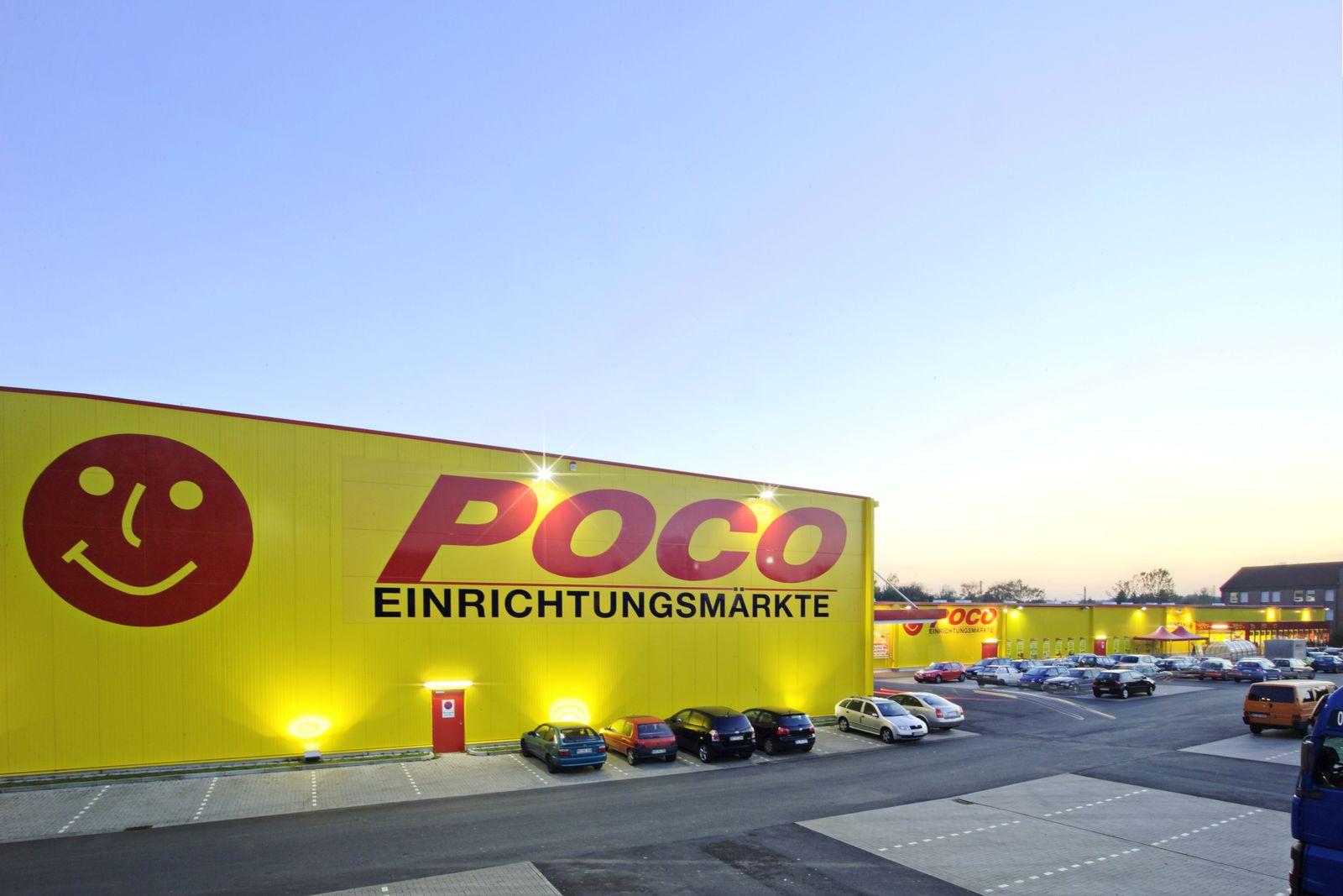 EINMALIGE VERWENDUNG Möbelhauskette Poco