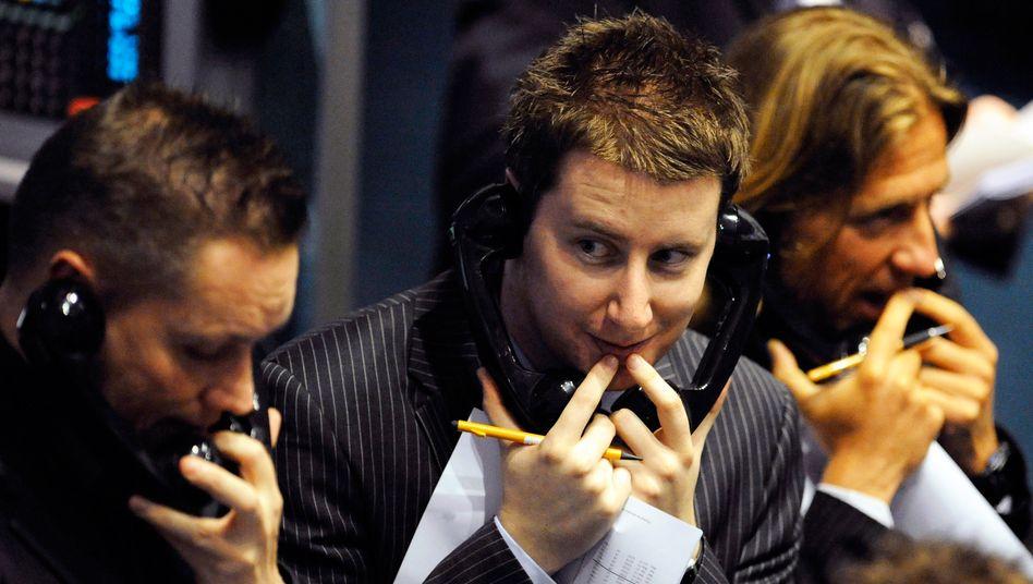 Händler in London: Der Eigentümer der New Yorker Börse könnte ein Gebot für die Londoner Börse abgeben