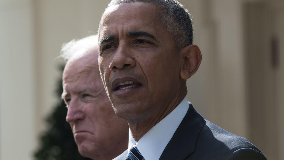 Barack Obama, damals Präsident der USA, mit seinem Vize Joe Biden im Jahr 2016