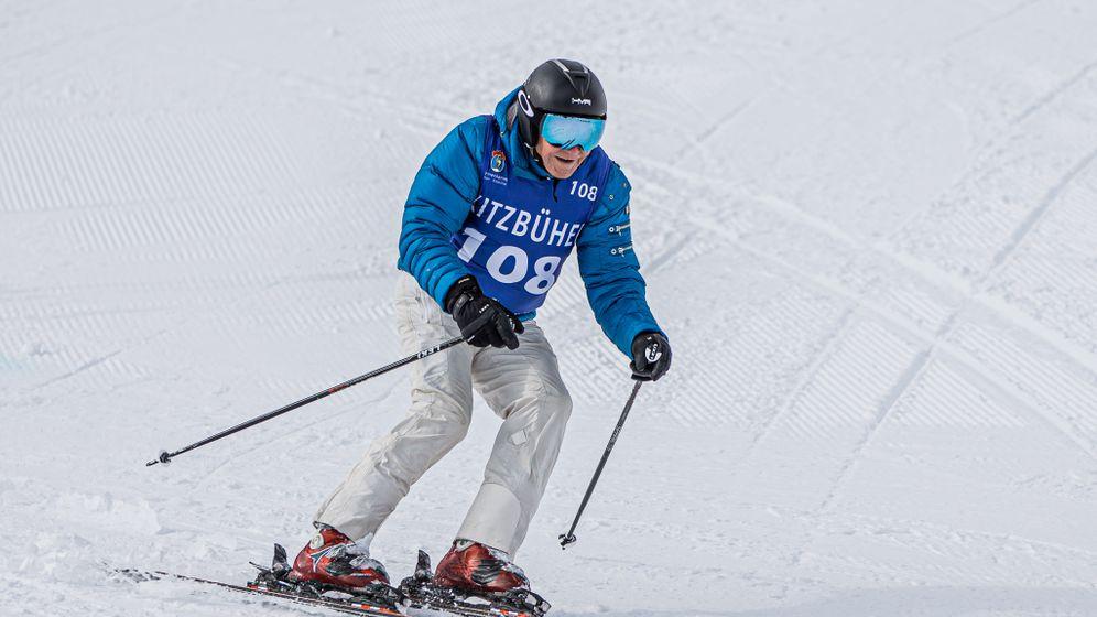 Abfahrt: Herbert Henzler will nach einem Skiunfall vor einem Jahr wieder zu alter Form zurückzufinden