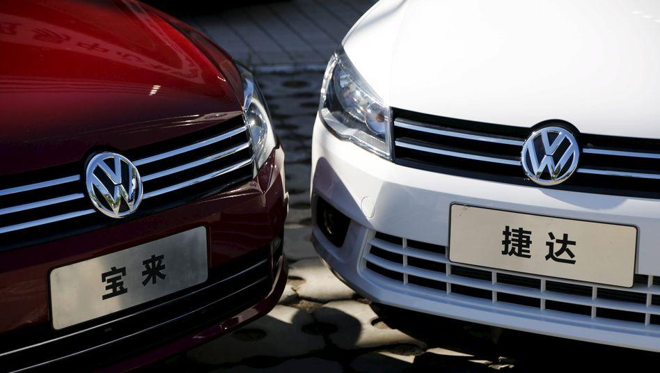 VW Jetta in Peking, China: Seit dem Start im vergangene Herbst haben die drei Jetta-Modelle bereits einen Marktanteil von fast einem Prozent errungen