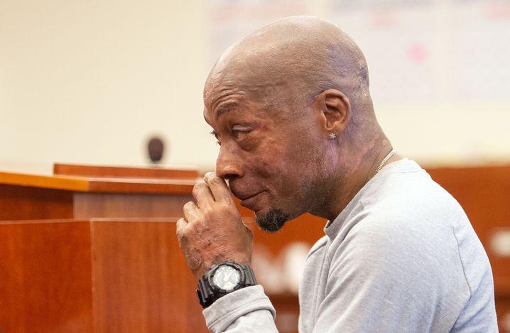 Kläger Dewayne Johnson nach der Urteilsverkündung.