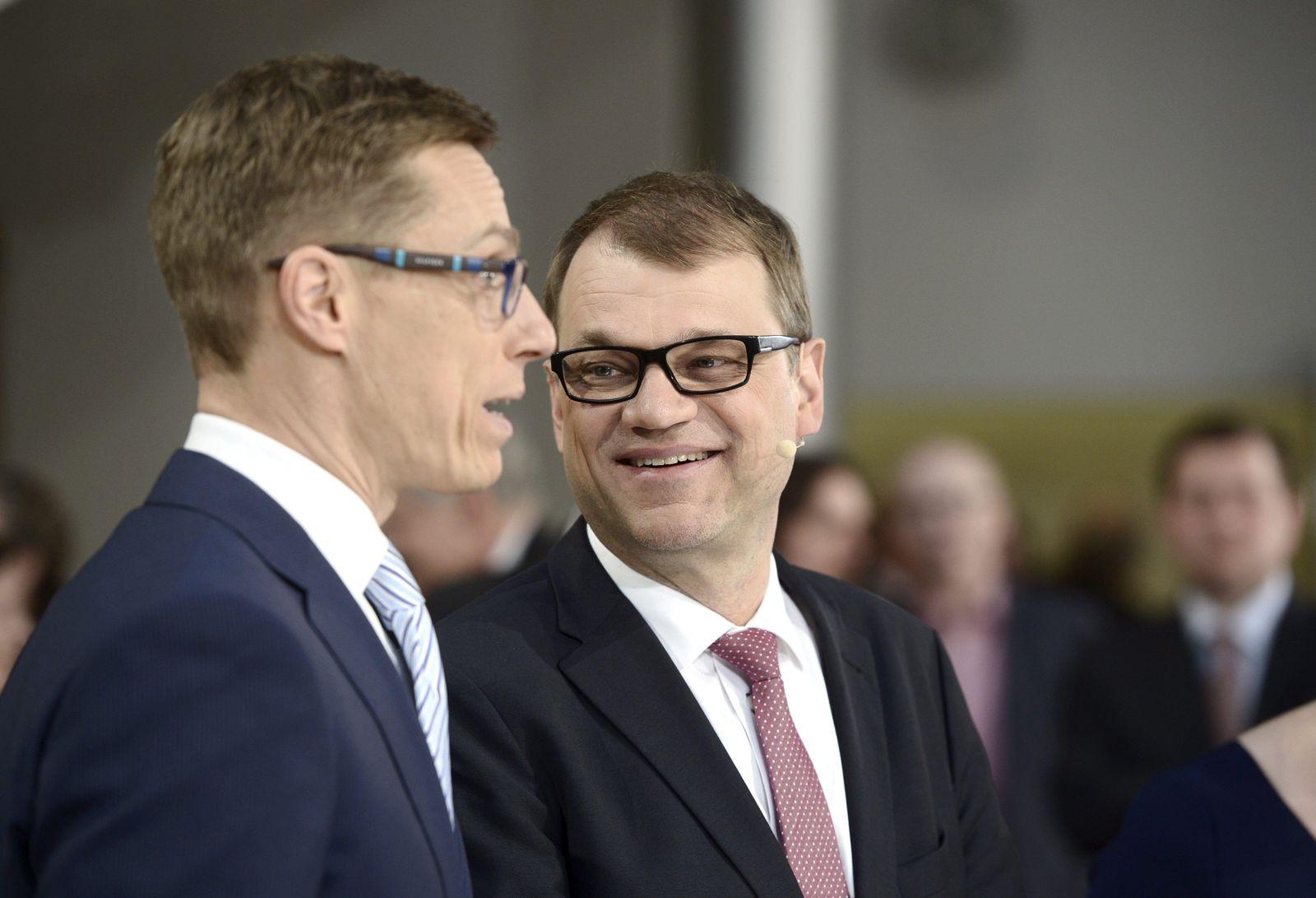Finnland, Parlamentswahl, Juha Sipilä, Alexander Stubbe