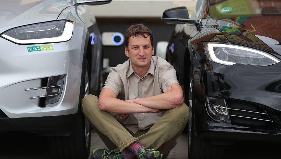 Stefan Moeller, Mitgründer und Geschäftsführer von Nextmove, die nach eigenen Angaben Deutschlands größte Elektroauto-Vermietung