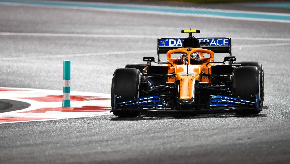 Bolide von McLaren beim Formel-1-Rennen am Wochenende in Abu Dhabi: Der Rennstall will mit frischem Investorengeld wieder Erfolge feiern
