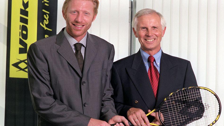 Boris Becker (links) , Ex-Geschäftpartner Hans-Dieter Cleven (r, Archivbild von 1999): Forderungen gegen Becker in Millionenhöhe