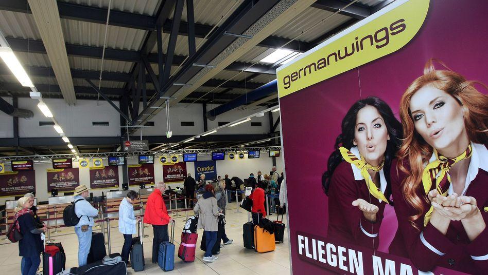 """Germanwings-Schalter in Berlin-Schönefeld: """"Arbeitskampf ist vom Tisch"""""""