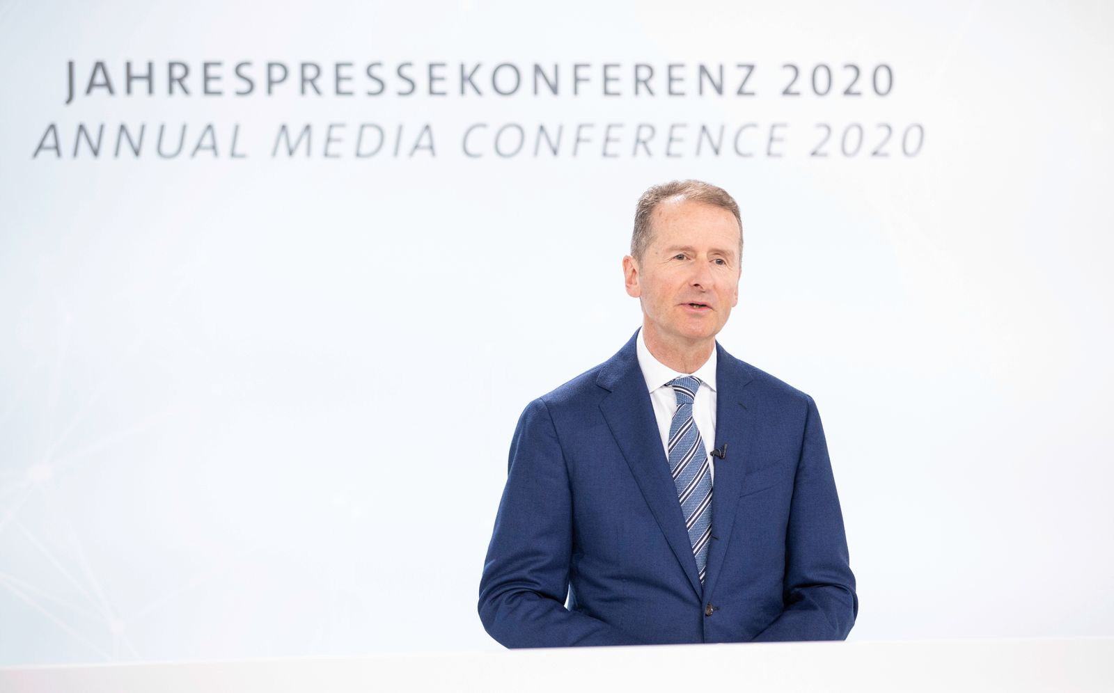 Herbert Diess / Volkswagen AG Annual Media Conference 2020