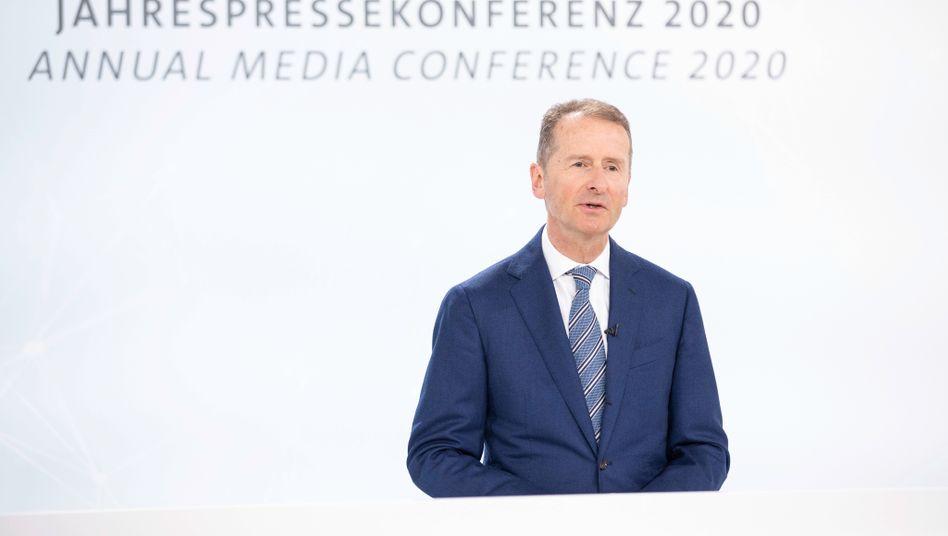Konzernchef Herbert Diess will Plattform für elektrische Kleinwagen.