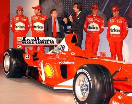 EM.TV ist aus dem Rennen: Ferrari präsentiert den Formel-1-Boliden F2003