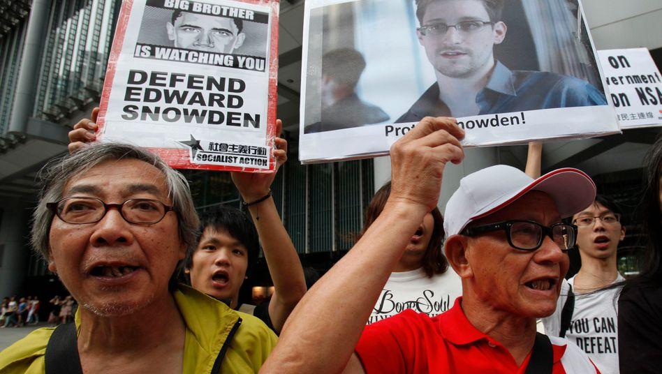 Whistleblower im Rampenlicht: Unterstützer von Edward Snowdon in Hongkong