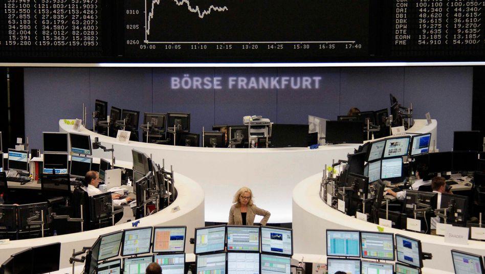 Händler in Frankfurt: Ins Plus gerettet