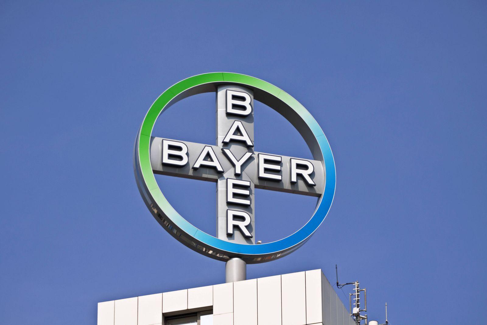Logo der Bayer AG, Unternehmen der chemischen und pharmazeutischen Industrie iblasm01627376