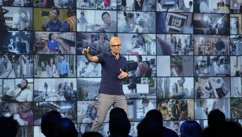 Microsoft-Chef Satya Nadella Anfang Mai in Seattle