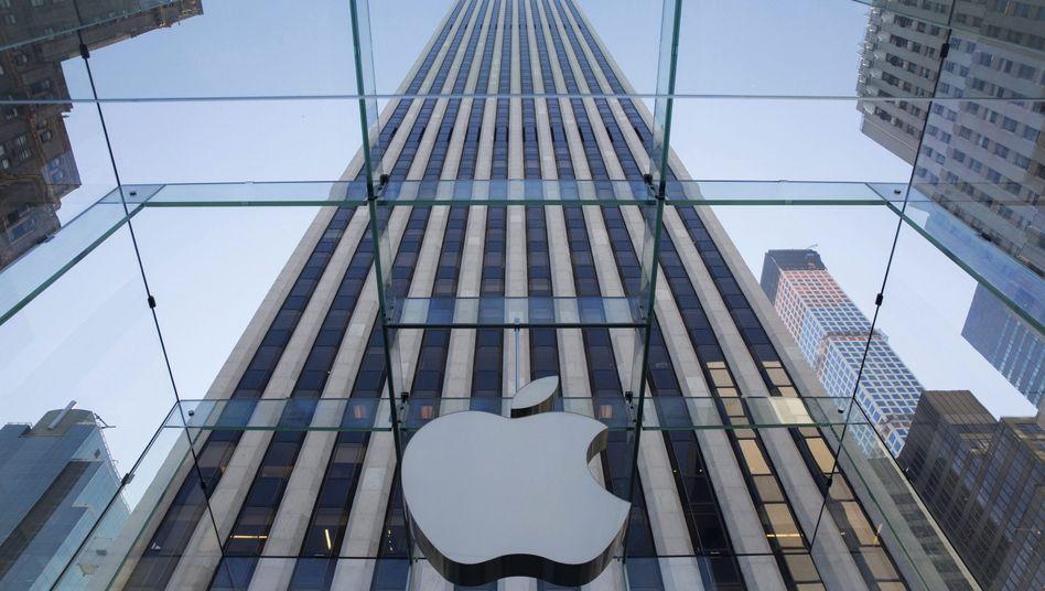 Apple Flagship Store an der 5th Avenue: Zur iOS-Panne gesellte sich ein Ausverkauf der Tech-Werte