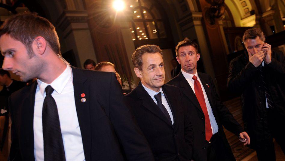 Nicolas Sarkozy in Frankfurt: Keine Einigung mit Merkel
