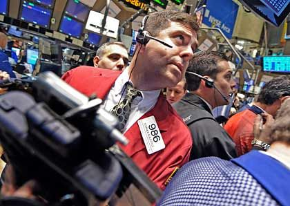 Zuversicht an der Nyse: An der New Yorker Börse hat der Dow Jones den Handel am Donnerstag im Plus beendet