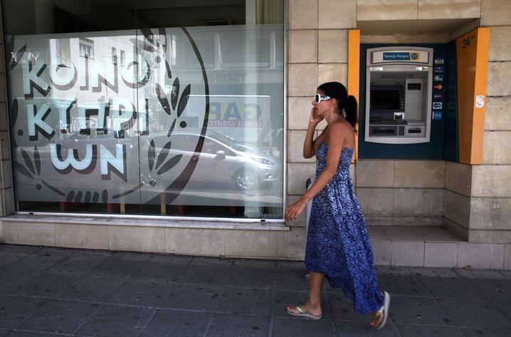 Bankfiliale in Zypern: Vom freien Kapitalverkehr ausgeschlossen
